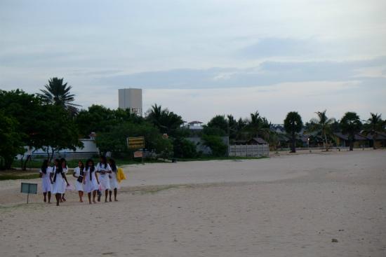 スリランカの女学生
