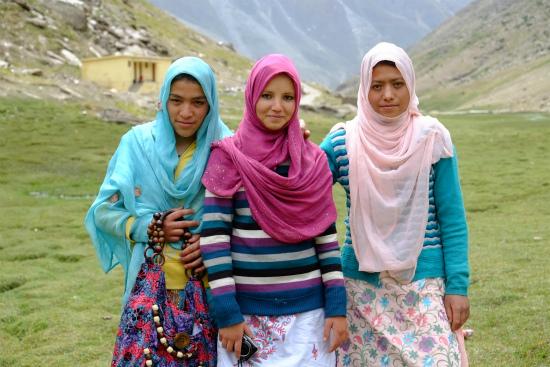 ラダックのイスラム系女学生