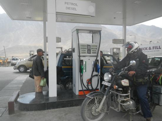 カルギルのガソリンスタンド