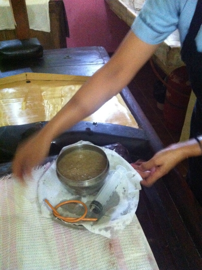 パンチャカルマで使う浣腸液