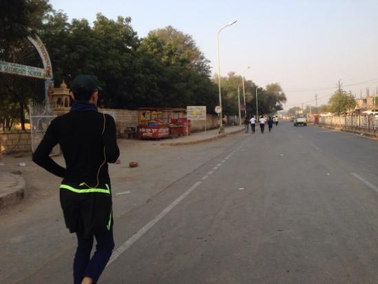 Jaisalmer Longewala Victory Run マラソン@ジャイサルメール、インド