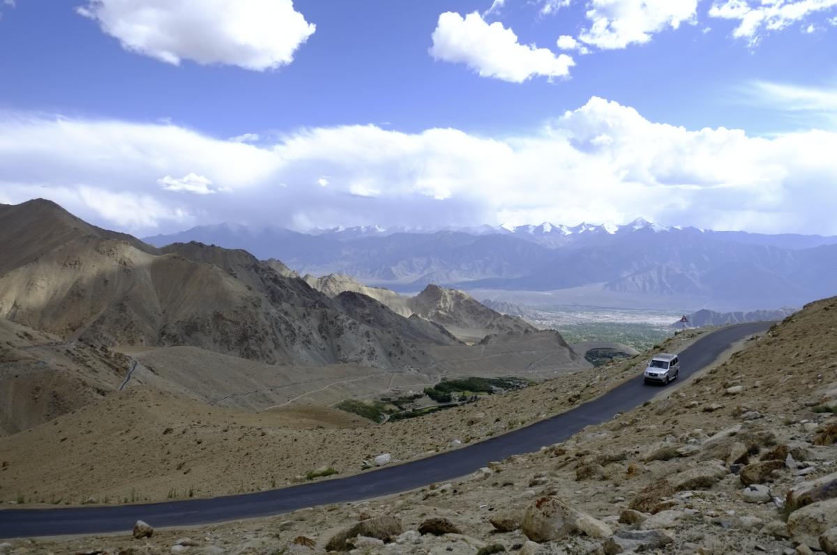 カルドンラ峠(Khardong La)からレーまでの帰り道