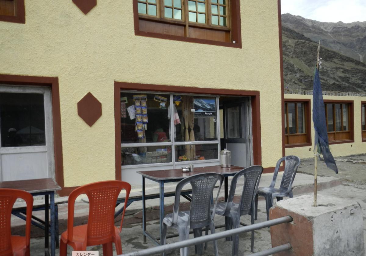 ザンスカールに行く道のレストラン