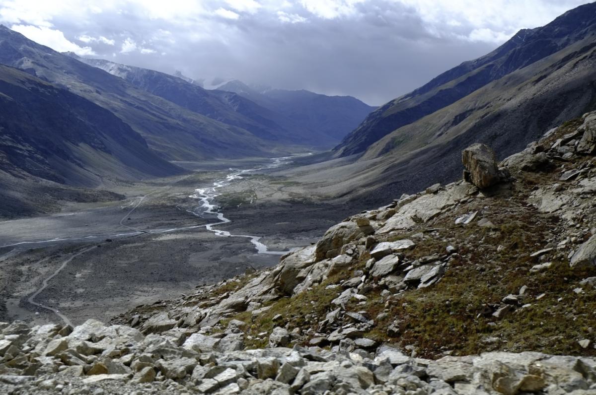 アイスフィールド、ダラン・ドゥルン氷河のビューポイント