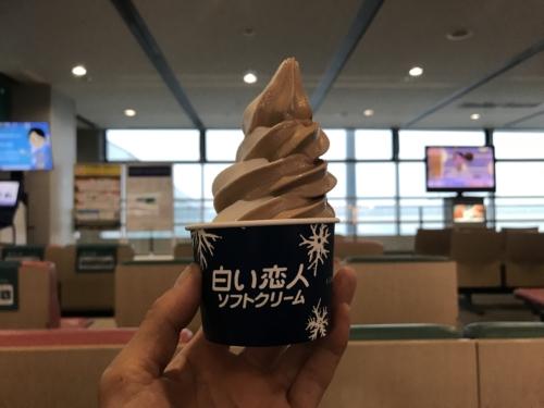 白い恋人のソフトクリーム