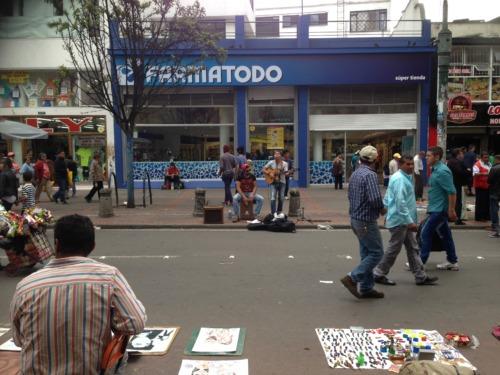 ボコタ市街地をランニング