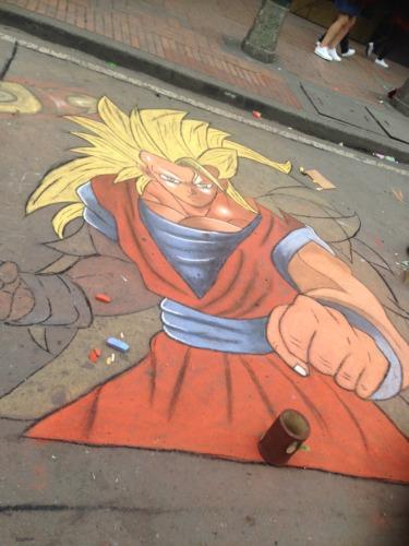 ボコタ市街地をランニング。ボコタのストリートアート