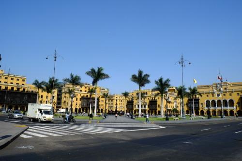 リマの旧市街、アルマス広場