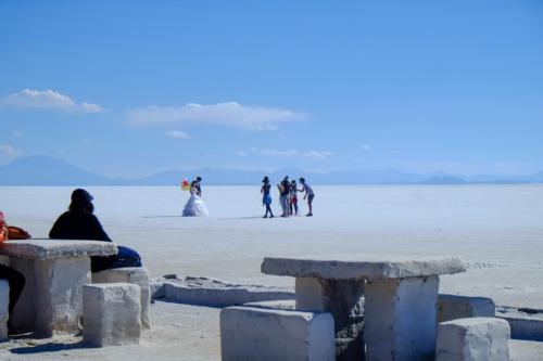 ウユニ塩湖でハネムーン